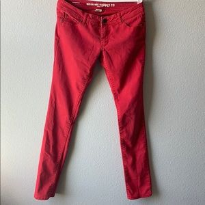 Mossimo Red Jeans Size 7/Fit 6